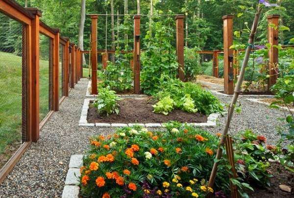 Стильный и элегантный дизайн огорода