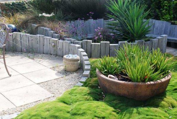 шпалы в саду