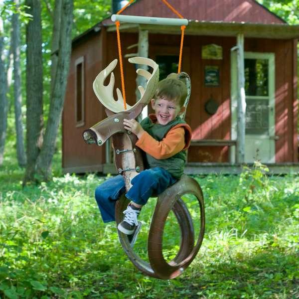 К счастью, из старых шин можно...  Старые шины на радость детям.