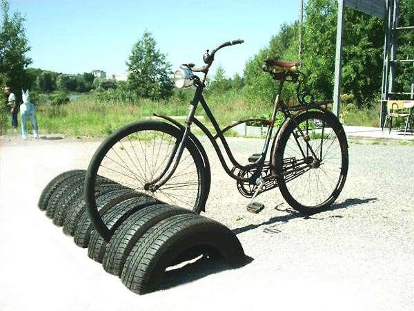 Что  можно сделать со старой шиной
