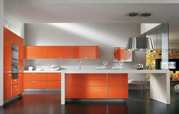 Оранжевый цвет в современном дизайне