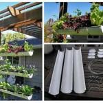 Подвесной огород на балконе своими руками