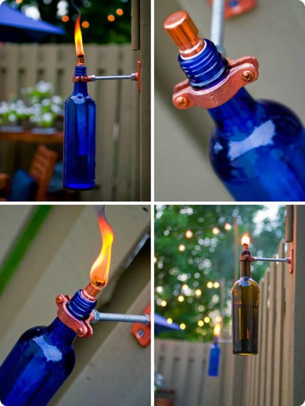 Светильник для сада из бутылки