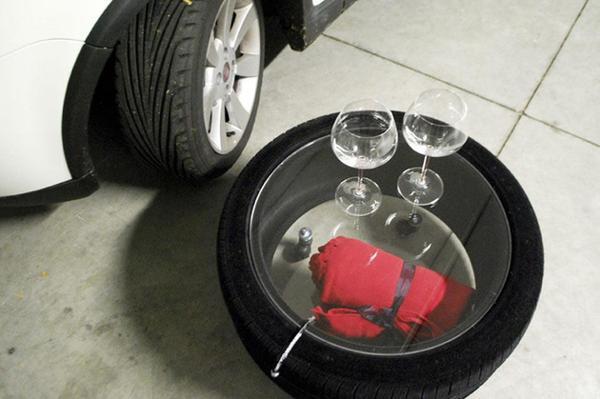 Журнальный столик из автомобильной шины