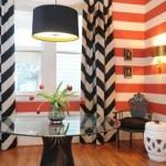 Полоска в современном  дизайне квартиры
