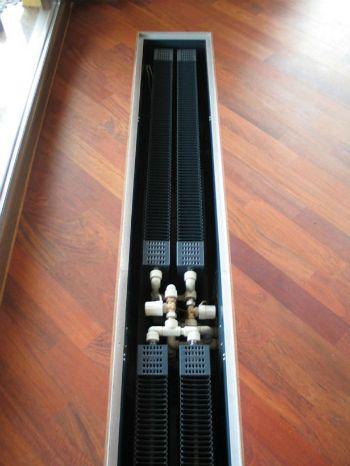 Внутрипольные конвекторы отопления в доме