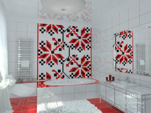 Ванная в украинском стиле