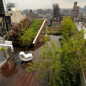 Крыша — сад или дом с газоном на крыше