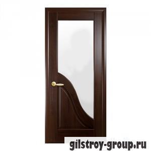 Межкомнатная дверь Новый Стиль Амата G Маэстра Deluxe, со стеклом, 2000x600x40, каштан, шт.