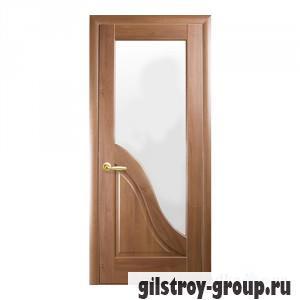Межкомнатная дверь Новый Стиль Амата G Маэстра Deluxe, со стеклом, 2000x600x40, золотая ольха, шт.