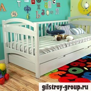 Кровать Arbor Drev Алиса 90х200 см, сосна, с одинарным ящиком по длине кровати (дерево), белый