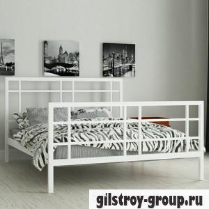 Кровать металлическая Мадера Дейзи, 160х190 см, основа - металлические трубки, белая