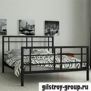 Кровать металлическая Мадера Дейзи, 160х190 см, основа - металлические трубки, черная