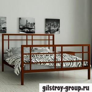 Кровать металлическая Мадера Дейзи, 90х190 см, основа - деревянные ламели, коричневая