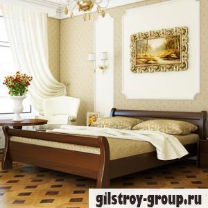Кровать Эстелла Диана, 140х200 см, массив бук, 101 темный орех