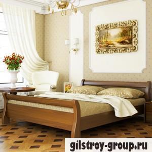 Кровать Эстелла Диана, 140х200 см, массив бук, 103 светлый орех