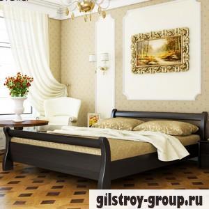 Кровать Эстелла Диана, 140х200 см, массив бук, 106 венге