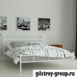 Кровать металлическая Мадера Диаз, 90х190 см, основа - металлические трубки, белая