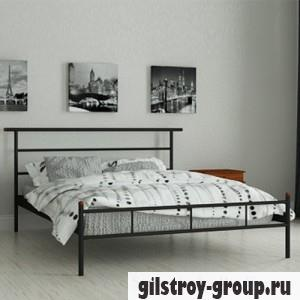 Кровать металлическая Мадера Диаз, 80х190 см, основа - деревянные ламели, черная