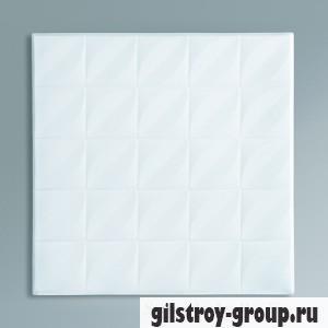 Экструзионная потолочная плита Лагом 4002, белая, 4 шт., кв.м.
