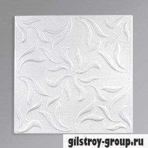 Экструзионная потолочная плита Лагом 5802, белая, 4 шт., кв.м.