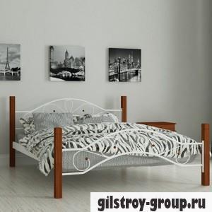Кровать металлическая Мадера Фелисити, 160х200 см, основа - деревянные ламели, белая