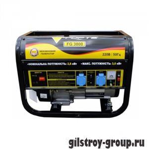 Генератор бензиновый Forte FG3800, 2.8 кВт, однофазный, ручной стартер, 1.54 л/ч, 15 л