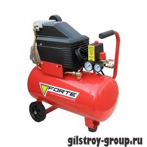 Компрессор Forte FL-24, поршневой, 203 л/мин, 24 л, 1.5 кВт, 8 бар, 220 В (17460)