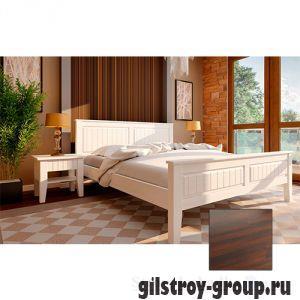 Кровать ЧДК Глория с низким изножьем, 160х200 см, темный орех