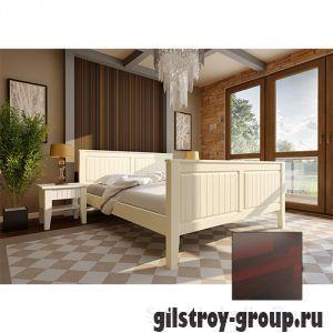 Кровать ЧДК Глория с высоким изножьем, 160х200 см, махонь