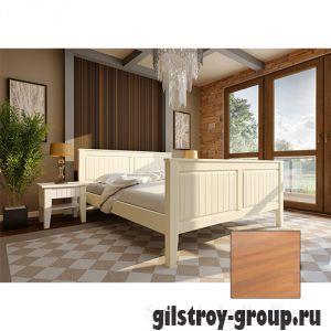 Кровать ЧДК Глория с высоким изножьем, 160х200 см, ольха