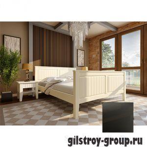 Кровать ЧДК Глория с высоким изножьем, 160х200 см, венге