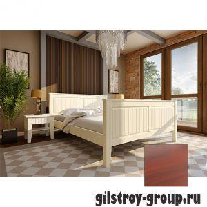 Кровать ЧДК Глория с высоким изножьем, 180х200 см, яблоня