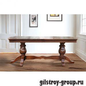 Стол для гостиной Микс Мебель Граф, 200(+50)x100x75 см, деревянный, орех