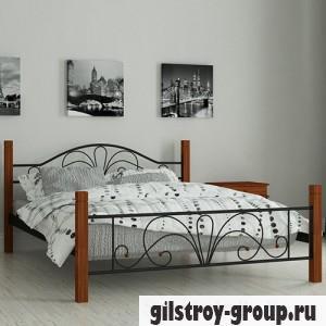 Кровать металлическая Мадера Изабелла, 120х190 см, основа - металлические трубки, черная