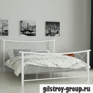 Кровать металлическая Мадера Кира, 180х190 см, основа - металлические трубки, белая