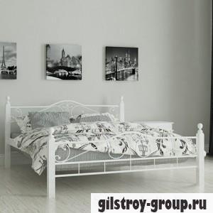"""Кровать металлическая Мадера """"Мадера"""", 140х190 см, основа - металлические трубки, белая"""
