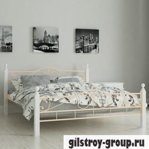 """Кровать металлическая Мадера """"Мадера"""", 140х200 см, основа - металлические трубки, бежевая"""
