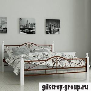 """Кровать металлическая Мадера """"Мадера"""", 90х200 см, основа - деревянные ламели, коричневая"""