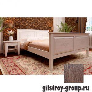 Кровать ЧДК Майя с высоким изножьем, 160х200 см, масло орех