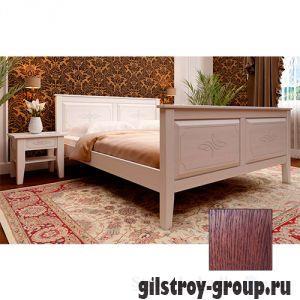 Кровать ЧДК Майя с высоким изножьем, 180х200 см, масло яблоня