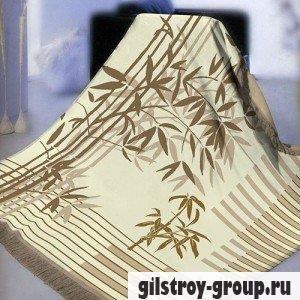 Плед Arya Megan 150Х200 см, бежево-коричневые тона, бамбук