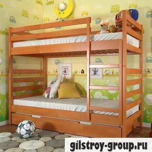 Кровать Arbor Drev Рио, 80х190 см, сосна, 2 ящика (каркас ДСП, фасад-дерево), ольха