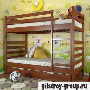 Кровать Arbor Drev Рио, 80х190 см, бук, 2 ящика (каркас ДСП, фасад-дерево), яблоня локарно