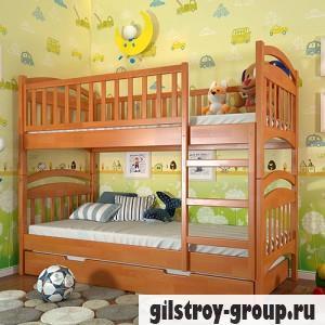 Кровать Arbor Drev Смайл, 80х190 см, сосна, без ящика, ольха