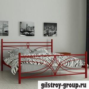 Кровать металлическая Мадера Тиффани, 120х200 см, основа - деревянные ламели, красная