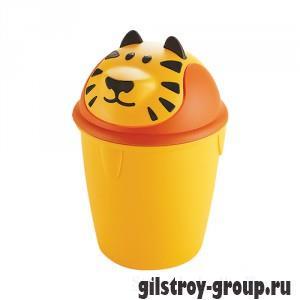 Ведро для мусора Curver Тигренок 155181, 12 л, оранжевое