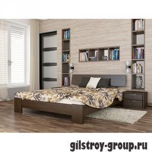 Кровать Эстелла Титан, 120х200 см, щит бук, 101 темный орех