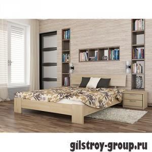 Кровать Эстелла Титан, 120х200 см, щит бук, 102 натуральный бук