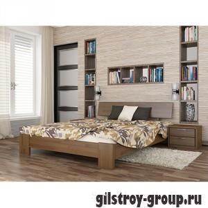 Кровать Эстелла Титан, 120х200 см, щит бук, 103 светлый орех
